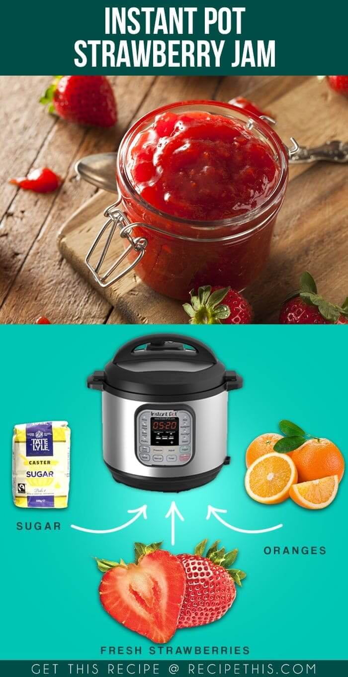 3 ingredient Instant Pot Strawberry Jam