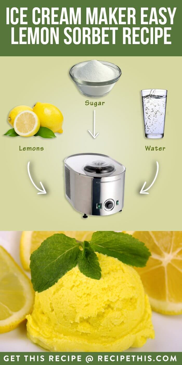5 Ingredient Ice Cream Maker Easy Lemon Sorbet Recipe