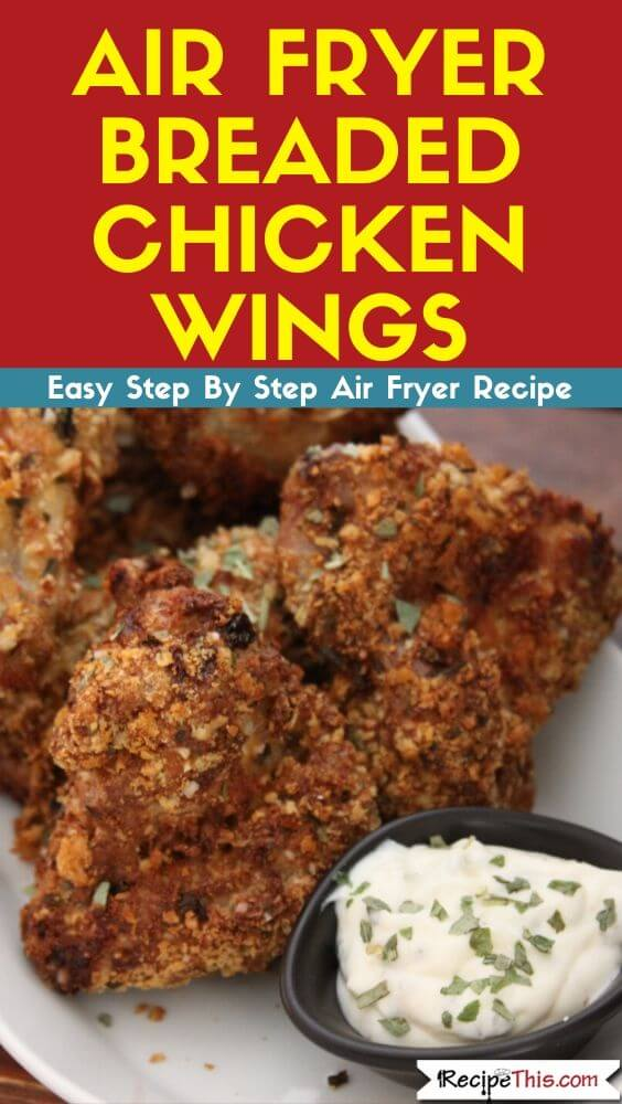 Air Fryer Breaded Chicken Wings