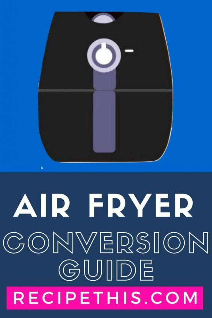 Air Fryer Conversion Chart Skinny