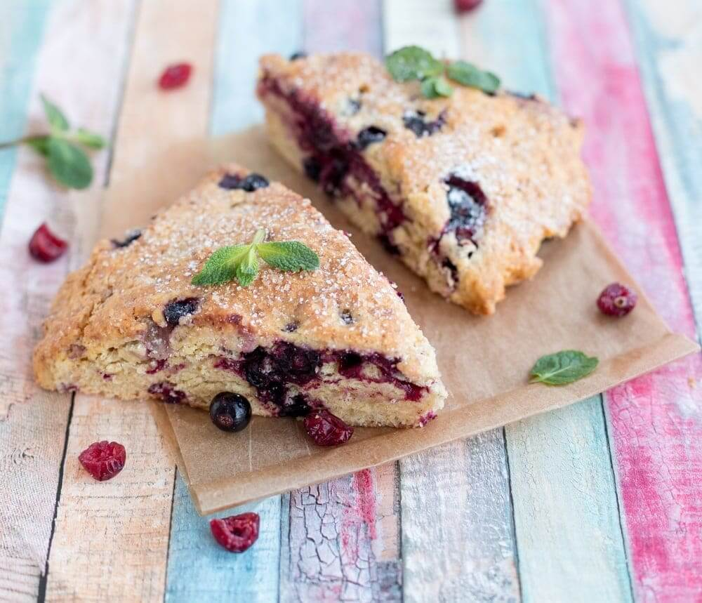 Air Fryer Cranberry Scone Bread gooey in the middle and crunchy on the outside.