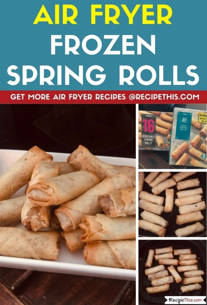 Air Fryer Frozen Spring Rolls step by step