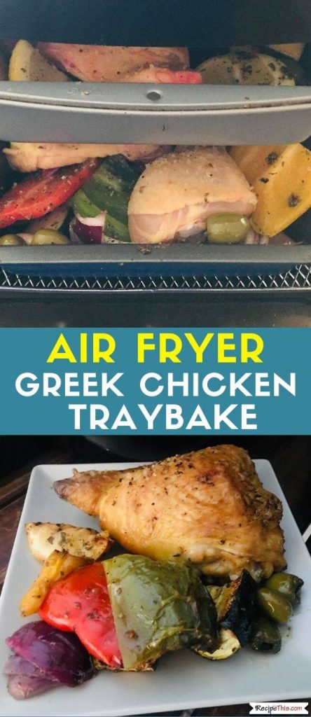 Air Fryer Greek Chicken Traybake