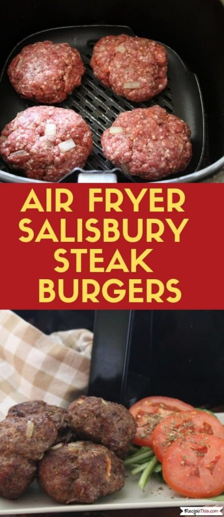 Air Fryer Salisbury Steak Burgers