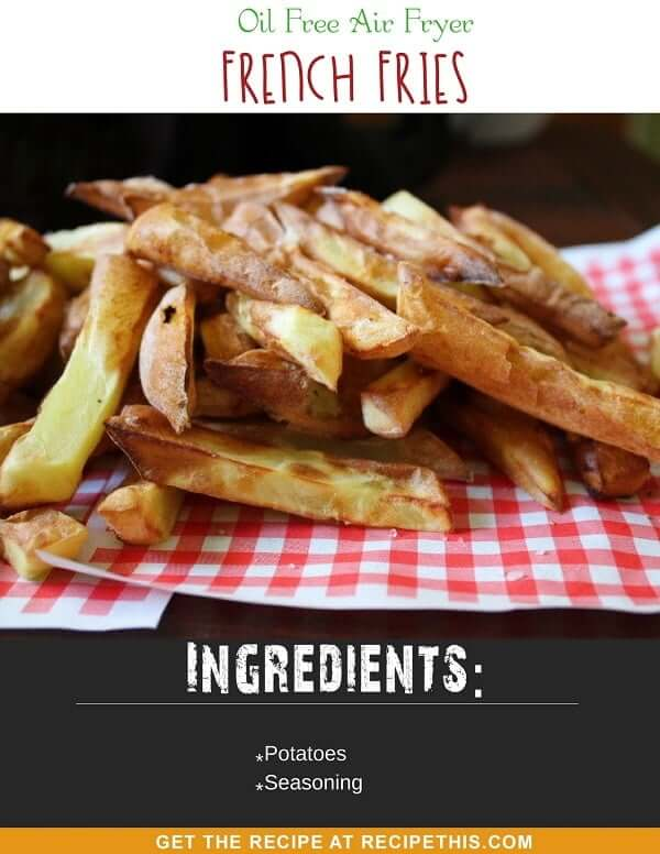 Oil Free Air Fryer French Fries