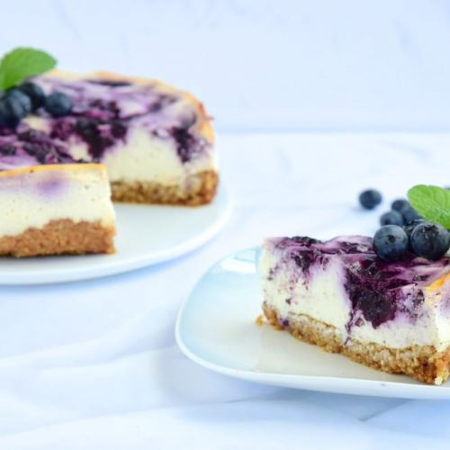 Welcome to my best ever Philips Airfryer Blueberry Cheesecake.