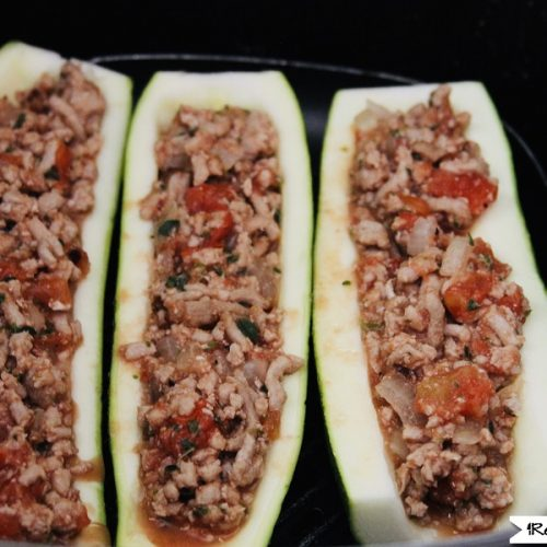 Bolognese Zucchini Boats In The Air Fryer