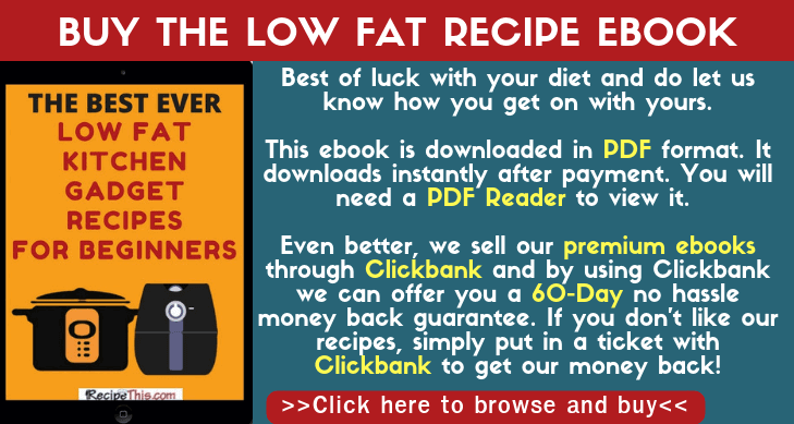Buy The Low Fat Recipe Ebook
