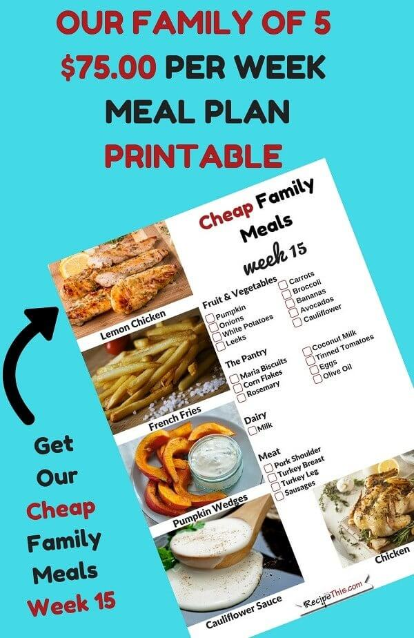 Whole30 Cheap Family Meals Challenge April Recipe This