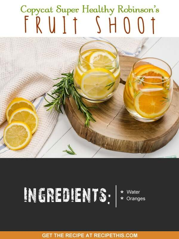 """""""Here are our 2 ingredients to make a super healthy Robinsons fruit shoot alternative."""""""