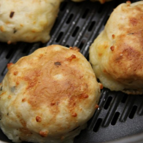 Flourless Mashed Potato Cakes In The Air Fryer