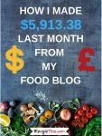 Food Blogging Income And Traffic Report November 2018