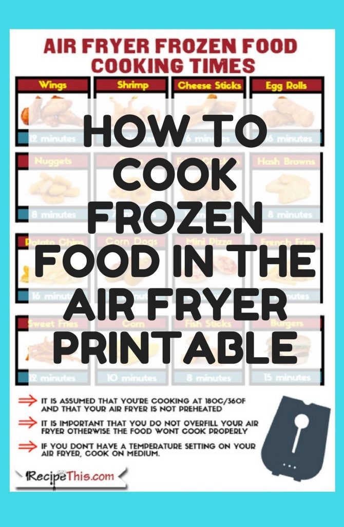 Air Fryer Frozen Food For Beginners