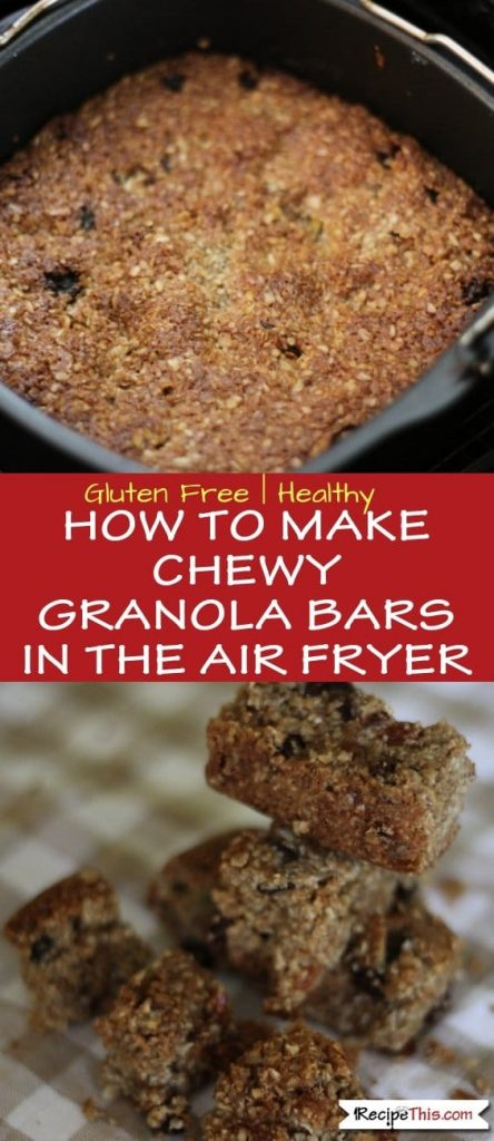 Air Fryer Chewy Granola Bars