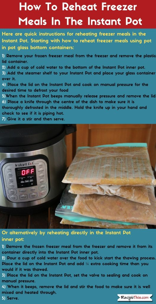 How To Reheat Instant Pot Freezer Meals