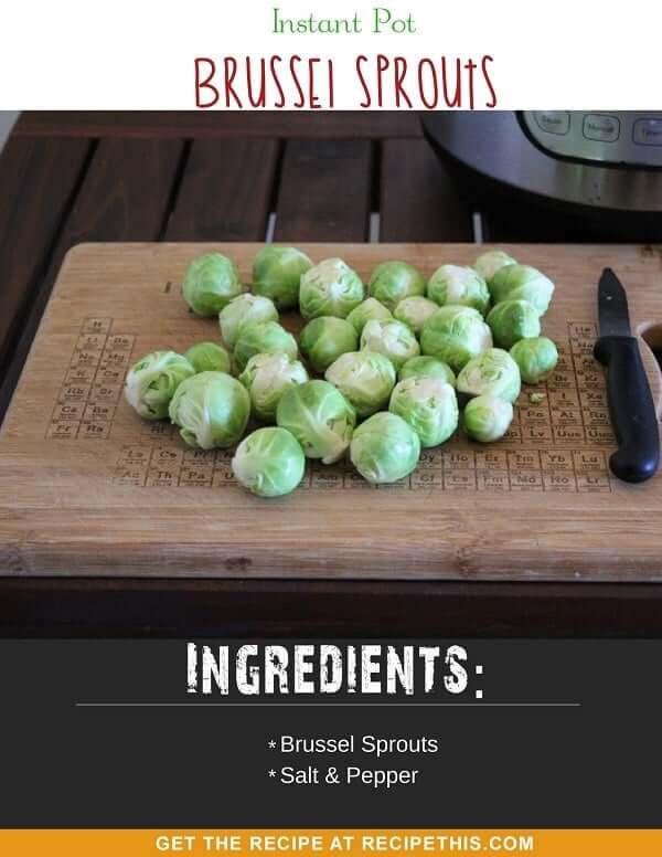 Instant Pot Brussel Sprouts steamed in the instant pot pressure cooker