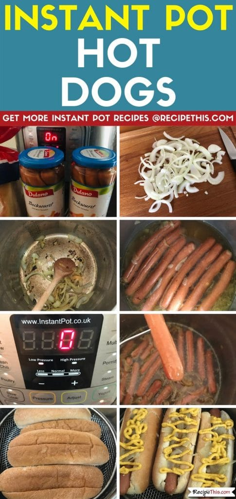 Instant Pot Hot Dogs step by step