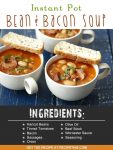 Instant Pot | Instant Pot Bean & Bacon Soup recipe from RecipeThis.com