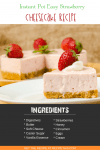 Instant Pot | Instant Pot Easy Strawberry Cheesecake recipe from RecipeThis.com