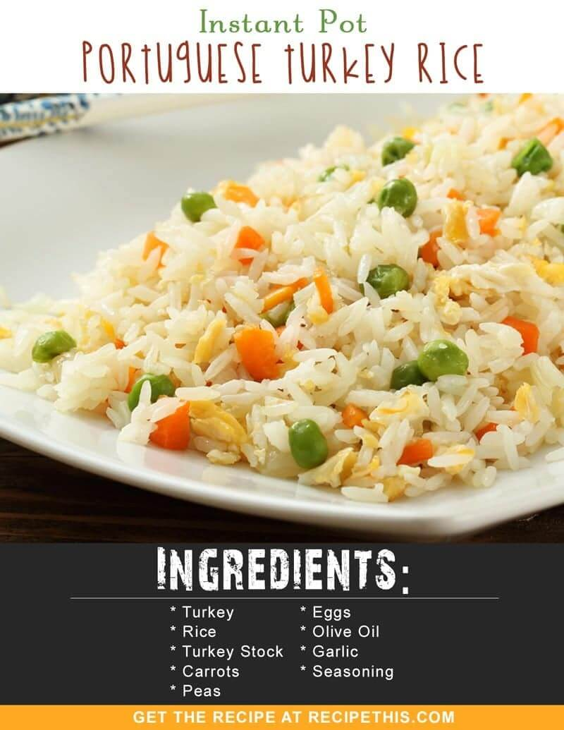 Instant Pot Recipes | Instant Pot Thai Turkey Fried Rice recipe from RecipeThis.com