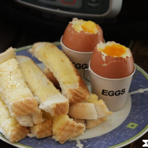 Instant Pot Soft Boiled Eggs With Soldiers