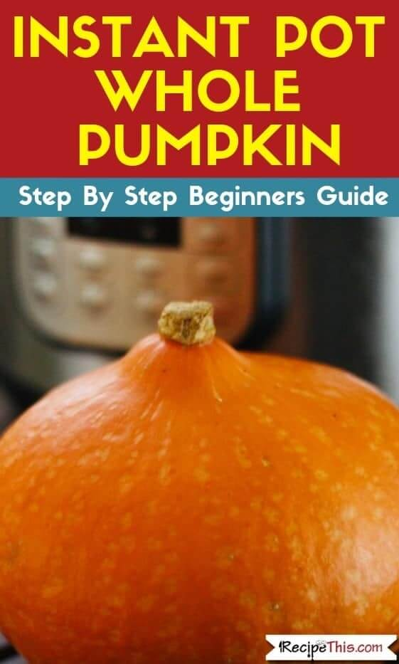 Instant Pot Pumpkin