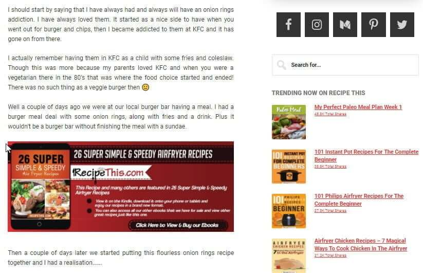 Food Blogging   monetising a food blog with ebook sales at recipethis.com