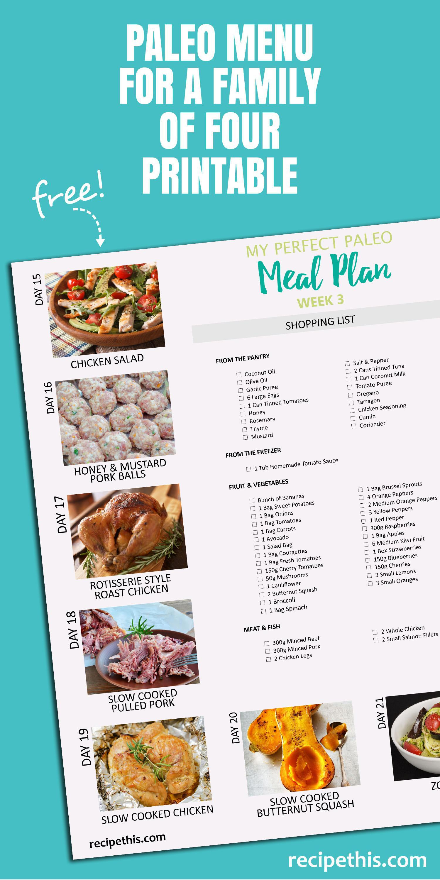 Cooking Tips | My Paleo Grocery Shopping List For Week 3 Of My Strictly Paleo Series Brought to you from RecipeThis.com