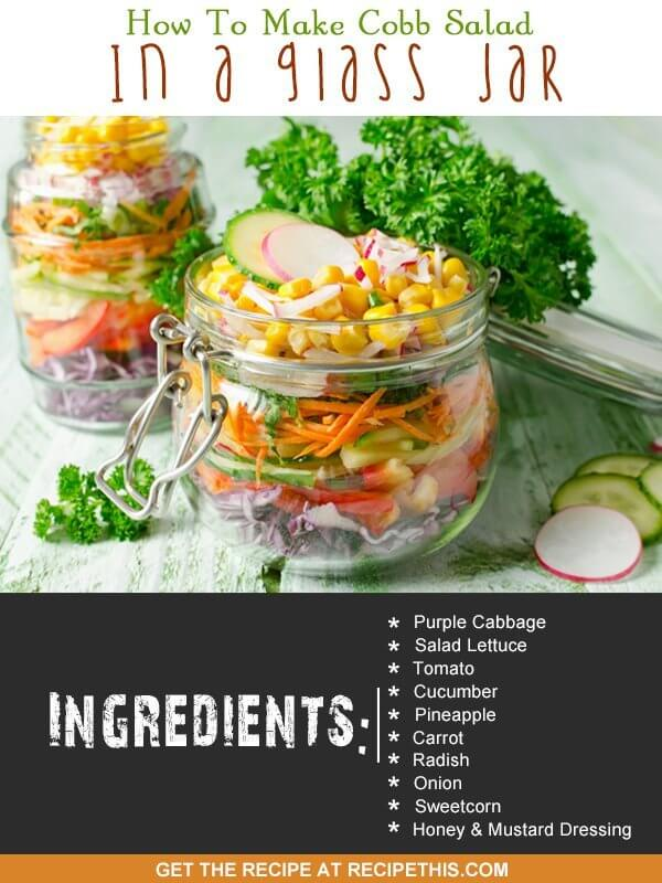 How to make cobb salad in a glass jar recipe this 30 minute meals welcome to how to make cobb salad in a glass jar recipe forumfinder Gallery