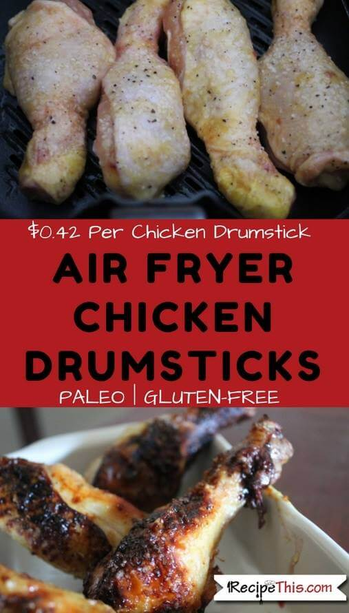 Sticky Air Fryer Chicken Drumsticks