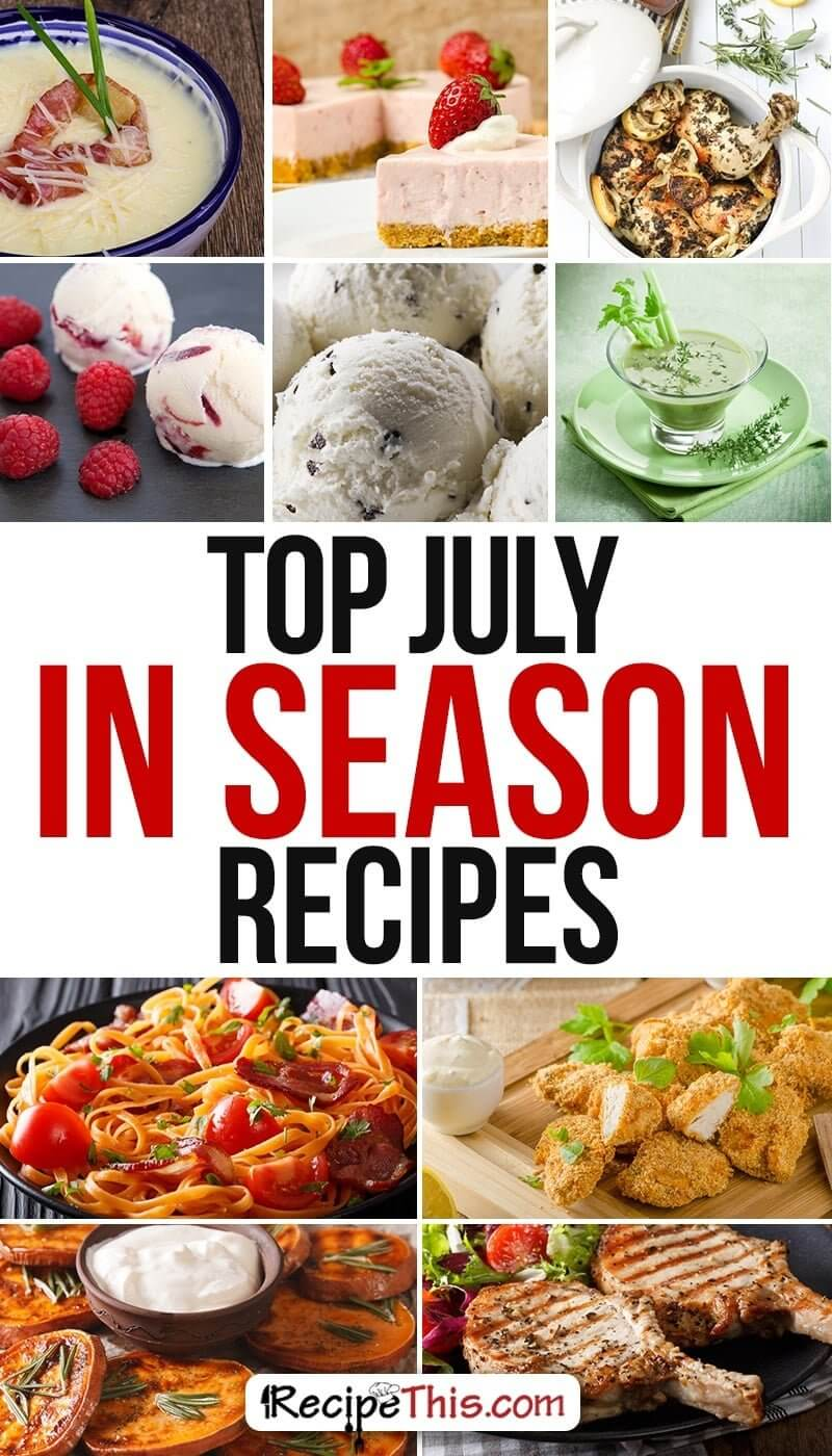 Cooking Tips Podcasts   Welcome to CTFM 25 & July Foods In Season Recipes from RecipeThis.com