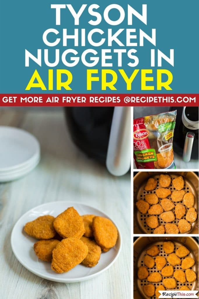 Tyson chicken nuggets in air fryer step by step