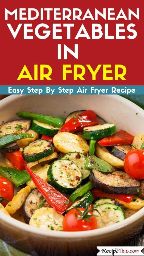 Vegetables in air fryer