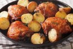 Welcome to my Whole 30 garlic mustard Airfryer chicken and potatoes recipe.