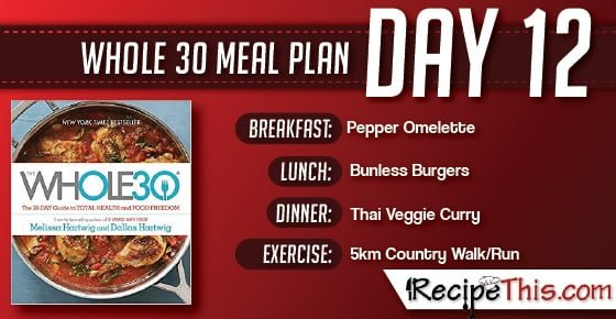 Whole 30 | Find out about our Whole 30 Meal Plan during day 12 of the Whole 30 Challenge from RecipeThis.com