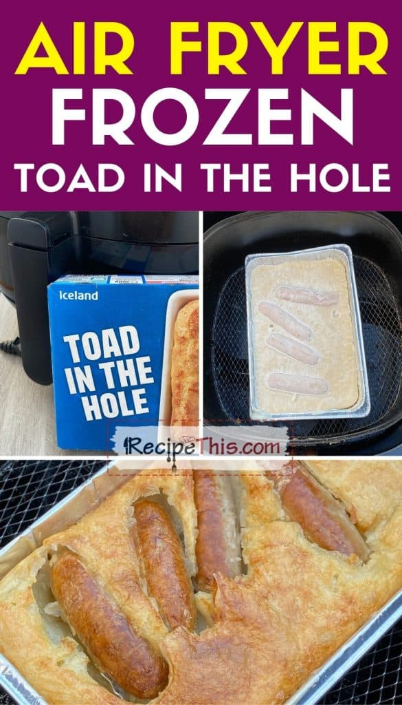 air fryer frozen toad in the hole step by step