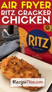 air fryer ritz cracker chicken recipe
