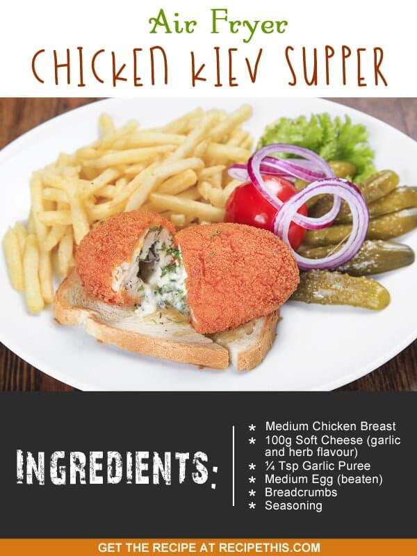 """chicken kiev cooked in an air fryer"""