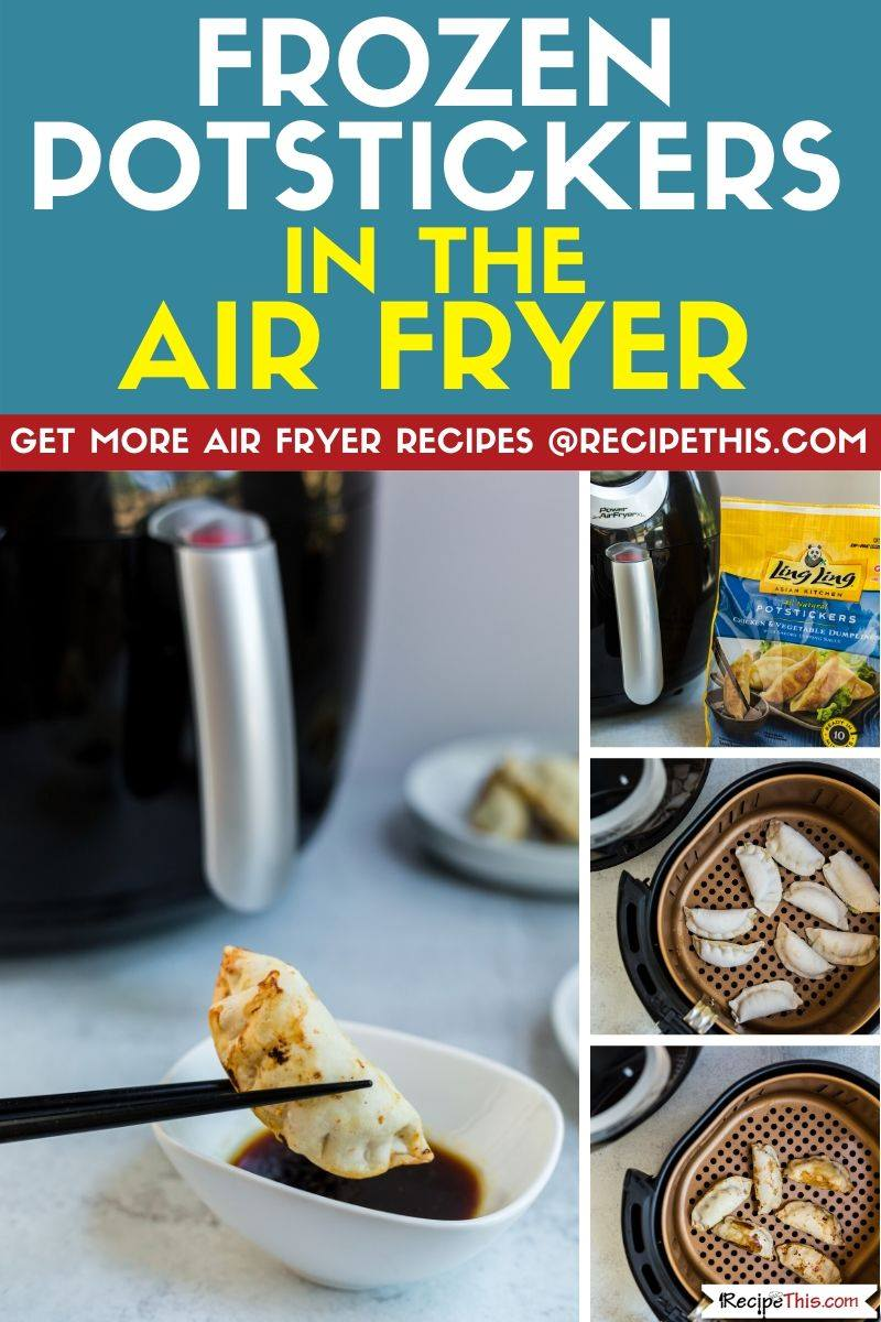 frozen potstickers in the air fryer step by step