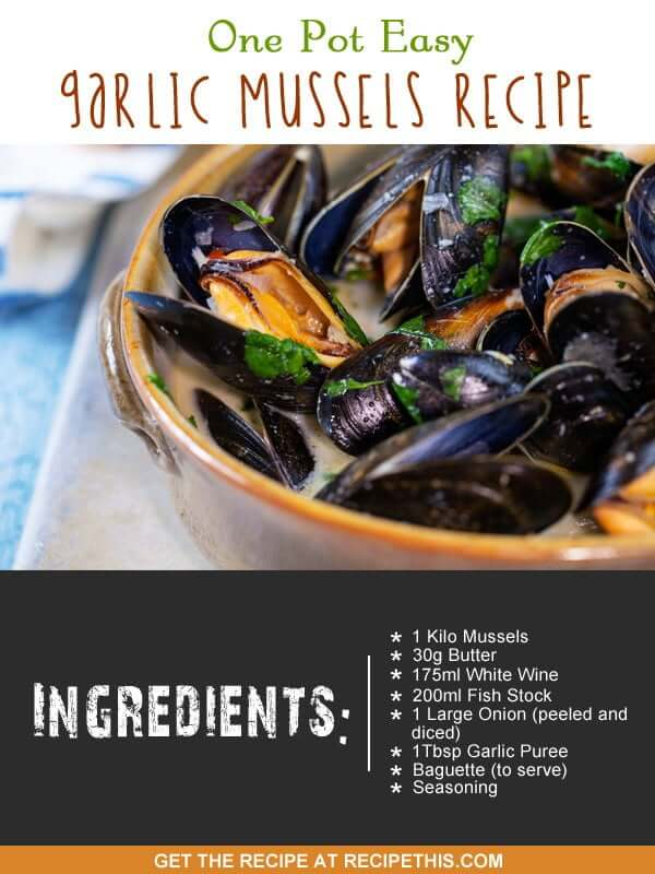 """garlic mussel recipe"""