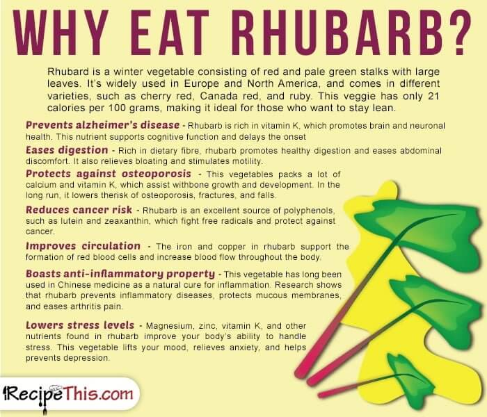 Cooking Tips Podcasts | Why Eat Rhubarb from RecipeThis.com
